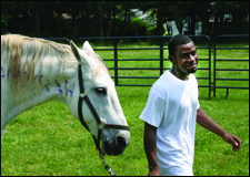 Garfield Park Academy - student in Equine Assisted Psychotherapy (EAP) program