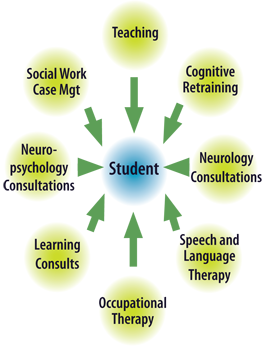 Brain Injury Program Integrated Services Graphic - Garfield Park Academy Compass Program