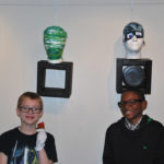 Garfield Park Academy student artists at exhibition - Virtua Gallery, Mount Holly NJ