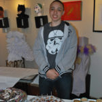 Garfield Park Academy student artist at exhibition - Virtua Gallery, Mount Holly NJ