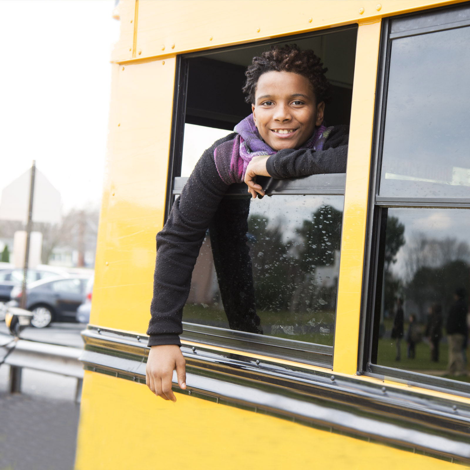 student on schoolbus - private special edcuation school Willingboro NJ