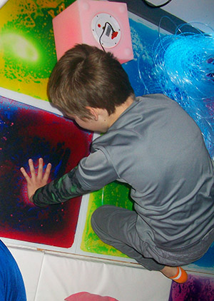 GPA Student in Sensory Room